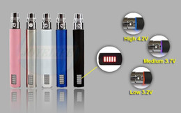 Wholesale Ego Electronic Battery Led - eGo VV battery 650mah 900mah 1100mah Variable Voltage LED battery for ego Electronic Cigarette Kits E cigarette Kit Various Colors DHL Free