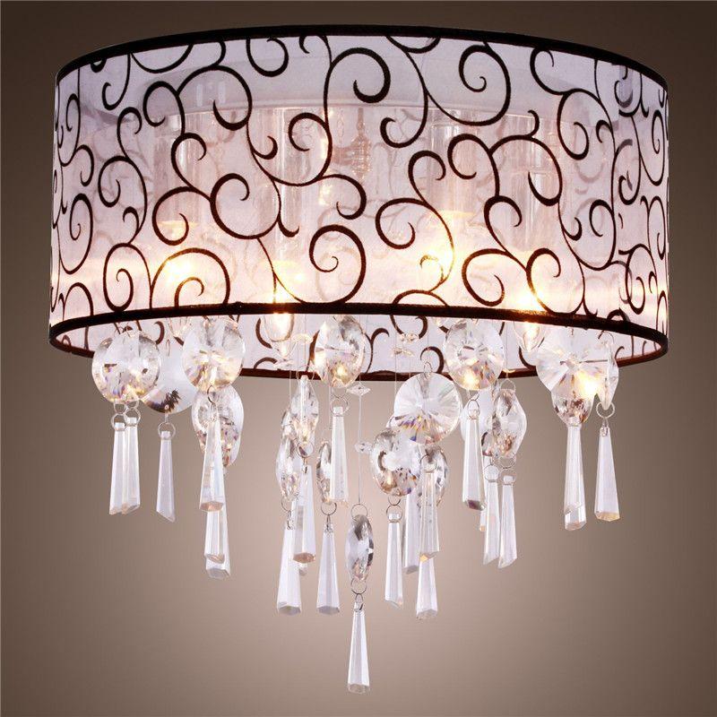 Discount Round Shape Elegant Crystal Chandelier Stylish Pendant ...