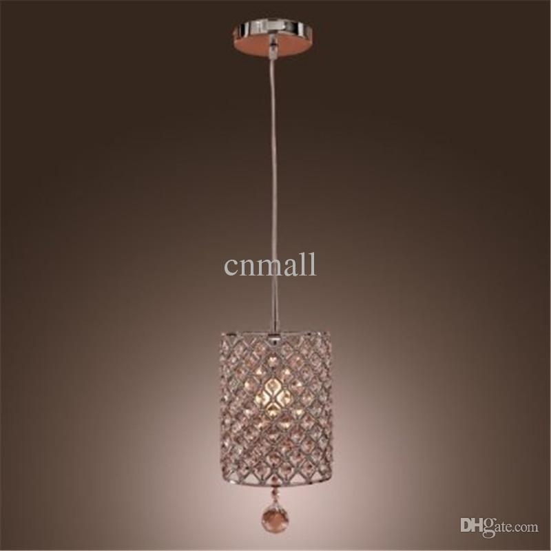 Contemporary crystal drop pendant light in cylinder style pendant light crystal chandelier ceiling light crystal chandelier pendant lamps pendant lighting