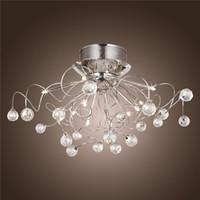 Wholesale Led Chandelier Light Fixtures - Modern Crystal LED Chandelier Ceiling Light Fixture Lighting Crystal Chandelier Lamps Pendent light with 11 G4 Lights