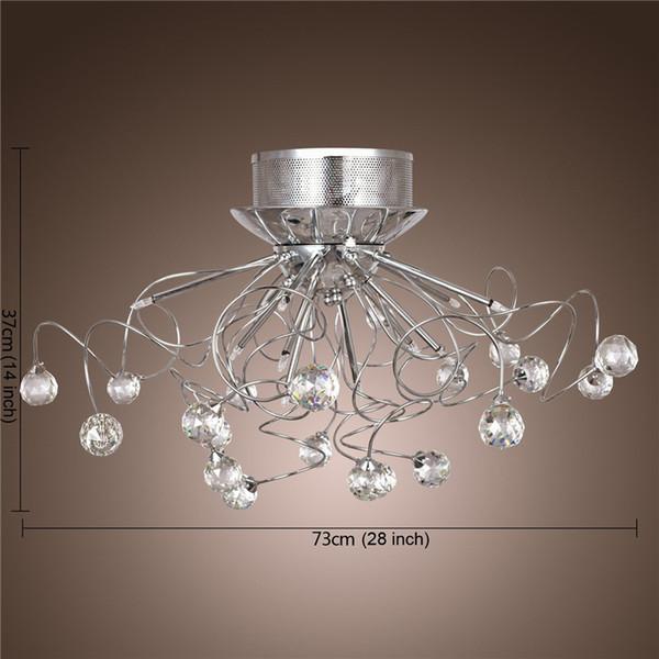 lamparas de cristal modernas. trefilado cubierta de tela y gotas de