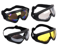Wholesale Tactical Airsoft Protection Goggles Glasses - 4 colors Airsoft Military UV400 Wind Dust Goggle Glasses surfing jet ski Tactical Protection Cycling Riding Goggle Glasses