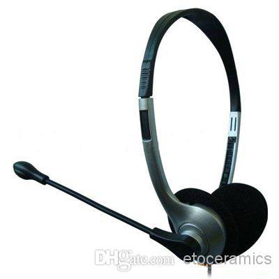 Datorns hörlurs mikrofon headset för PC Skype MSN över-the-head design