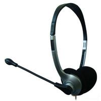 ingrosso microfoni a testa-Cuffie per computer Cuffie per microfono per Skype Skype (design over-the-head)