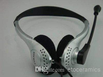Zestaw słuchawkowy Mikrofon słuchawkowy komputera do komputera Skype MSN projektowanie na głowie