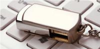sopa 128gb boş dhl toptan satış-DHL Ücretsiz Nakliye 128 GB 256 GB 64 GB Döner Memory Stick Flash Sürücü Depolama USB 2.0 Gümüş Ton Anahtarlık OEM LOGOSU Özel 1 Gün Sevk