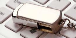 Wholesale Custom Usb Flash Drives - DHL Free Shipping 128GB 256GB 64GB Swivel Memory Stick Flash Drive Storage USB 2.0 Silver Tone Key Ring OEM LOGO Custom 1 Day Dispatch