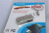 garanti sürüsü toptan satış-256 GB 128 GB 64 GB USB 2.0 Döner Metal Kral Zincir Halkası USB Flash Sürücü U Disk Windows iOS OEM LOG Ipek Baskı DHL Ücretsiz 12 Ay Garanti