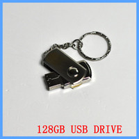 Wholesale 128gb Pen Drive Dhl - 256 GB 128GB 64GB USB 2.0 Swivel Flash Drive Pen Memory Stick Chrome Metal With Keyring OEM Retail Packaging DHL EMS 1 Day Shipping Fast UPS