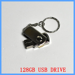 Wholesale Memory Pen Drives - 256 GB 128GB 64GB USB 2.0 Swivel Flash Drive Pen Memory Stick Chrome Metal With Keyring OEM Retail Packaging DHL EMS 1 Day Shipping Fast UPS