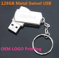 Wholesale Wholesale Key Ring Usb - 256GB 128GB 64GB USB 2.0 Swivel Metal Swivel Key Ring 256GB 128GB 64GB USB 2.0 Swivel Flash Drive Pen Memory Stick Chrome Metal With Keyring