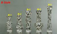 Wholesale Leopard Print Electronic Cigarettes - 2014 Newest ABS Drip Tip leopard print transparent drip tips splash 360 Degree Rotatable and 510 long CE4 VIVI NOVA DCT Atomizer mouthpiece