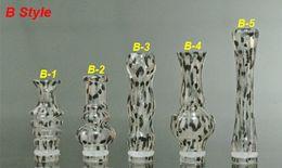 Wholesale Leopard Newest - 2014 Newest ABS Drip Tip leopard print transparent drip tips splash 360 Degree Rotatable and 510 long CE4 VIVI NOVA DCT Atomizer mouthpiece