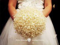inci çelenk düğün dekorasyonları toptan satış-Beyaz Inci Zincir Dize Garland Noel Isteyen Ağaç Gelin Buketi headdress şapkalar düğün ev Dekorasyon DIY Craft 60 M / rulo