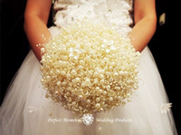 Wholesale Wedding Wishing Tree Wholesale - White Pearl Chain String Garland Christmas Wishing Tree Bridal Bouquet headdress headwear wedding home Decoration DIY Craft 60M roll