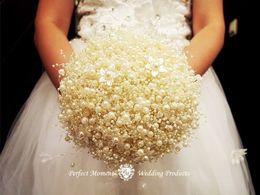 Canada Blanc Perle Chaîne Chaîne Guirlande De Noël Souhaitant Arbre Bouquet De Mariée Coiffure Chapeaux De Mariage Maison Décoration DIY Artisanat 60 M / rouleau cheap string rolls pearls Offre