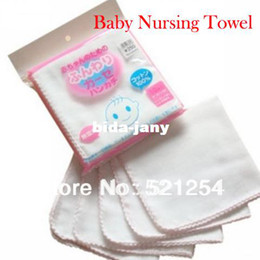 Wholesale Wholesale Baby Cotton Wash Cloths - Baby NewBorn Infant Gauze Muslin Square Cotton Bath Wash cloths bibs Towel 50pcs Lot free shipping