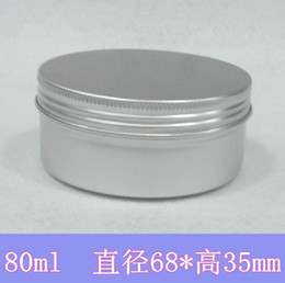 Wholesale Tin Gift Containers - Free Shipping Wholesale 100pcs lot 80g Metal Box Tin Container Butter Jar Aluminum Packaging Wath Case Gift Box USB Container