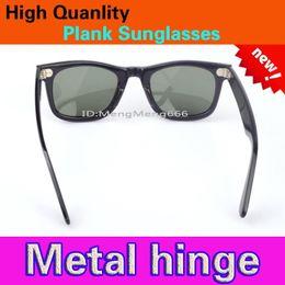 Wholesale Sunglasses Quality Wayfarer - Brand New UV400 protection High Quality Plank black Sunglasses glass Lens black Sunglasses beach sunglasses UV protection sunglasses