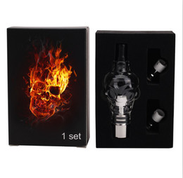 Wholesale E Cig Skull - Skull Glass globes Atomizer kit with 2 Core coil cartomizer tank Pyre wax dry herb vaporizer clearomizer for e cig Electronic cigarette