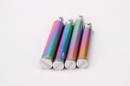 Wholesale rainbow ego - Ego battery Vision Rainbow Battery eGo C Twist 650mAh 900mAh 1100mAh 1300mAh variable voltage E cigarette Electronic cigarette New