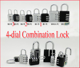 Wholesale Tsa Combination Padlock - Newnest 50pcs 4-dial 3-dial TSA Combination Lock Luggage Padlock PC Security combination Lock Code Lock,4 style free shipping