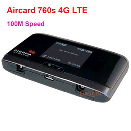 3g Wireless Wifi Hotspot Canada - unlocked Wireless Telstra Sierra 760s 4G AirCard LTE Modem Moblie Hotspot 100mbp wifi portable ree shipping