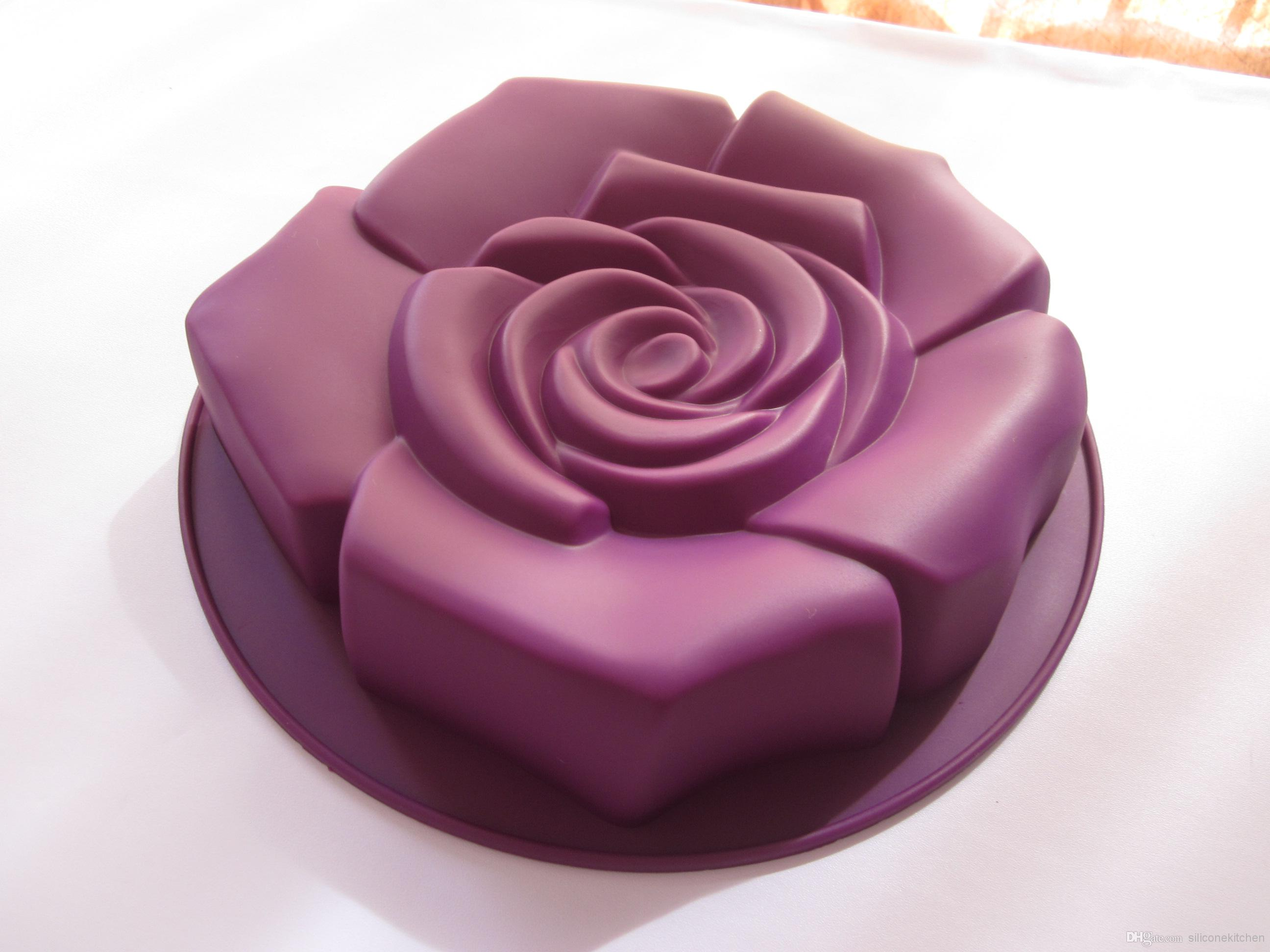 d168ceb32 2 pcs/lot 100% silicone big size rose silicone cake pans,baking pans,cake  mould,bakeware,FDA+free shipping
