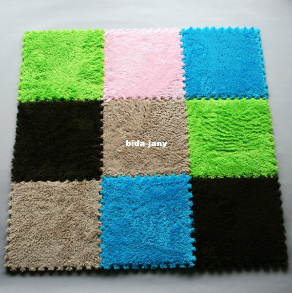 Nuovo 9pc Pile Floor Covering EVA Foam Puzzle Tappetini Play Mat GYM Baby Kids