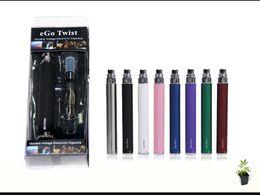 Wholesale Electronic Cigarette Variable Voltage Blister - eGo-C Twist Kits CE4 Atomizer 650mah 900mah 1100mah ego-C Twist Variable Voltage battery Electronic Cigarette e-cig kit Blister Packing DHL