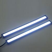 en ince ledli şerit toptan satış-20 indirim ! 2 * 17 CM COB LEDs Evrensel Ultra-ince Digid LED Şerit Araba Gündüz Çalışan Işık DRL Uyarı Sis Dekoratif Lamba