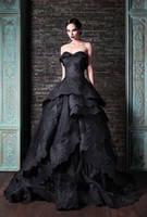 Wholesale Glamorous Empire Sweetheart Dress - Glamorous Sweetheart Sleeveless Tired Organza Appliques Beaded Evening Dresses Long Black Prom Dresses 2016 Saudi Arabia Evening Gowns