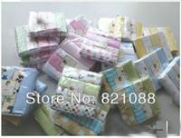 Wholesale Receiving Fleece Blankets - Flannel Receiving Blanket 100% cotton blanket baby cotton baby's blanket 76X76cm PVC 4PCS LOT fleece blanket