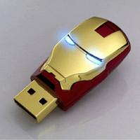 USB 2.0 LED Eisen Mann FLASHDRIVE FLASH DRIVE SPEICHER STICK DEVICE DONGLE GoldB 256 GB 64 GB Speicher Stick Flash Drive Speicher USB 2.0 Silber Ton