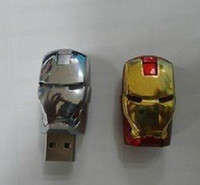Wholesale Usb Memory Stick Casing - 256GB 128GB 64GB Metal Metal Case LED Iron Man Memory Stick Flash Drive Storage USB 2.0 Retail Box Packaging 256GB 128GB 64GB Metal Case