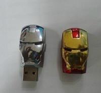 Wholesale Iron Man Flash Drive 64gb - 256GB 128GB 64GB Metal Metal Case LED Iron Man Memory Stick Flash Drive Storage USB 2.0 Retail Box Packaging 256GB 128GB 64GB Metal Case
