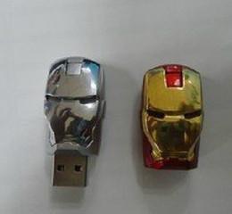 Wholesale Iron Metal Box - 256GB 128GB 64GB Metal Metal Case LED Iron Man Memory Stick Flash Drive Storage USB 2.0 Retail Box Packaging 256GB 128GB 64GB Metal Case
