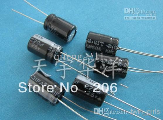 الجملة - 25 فولت 220 فائق التوهج 8x12 DIP كهربائيا المكثفات