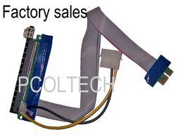 Envío de honorarios | 30CM Flexible PCI-E PCI-Express cable X1 TO X16 Riser Card Extender | Con Molex Power Jack | Para la minería de Bitcoin desde fabricantes
