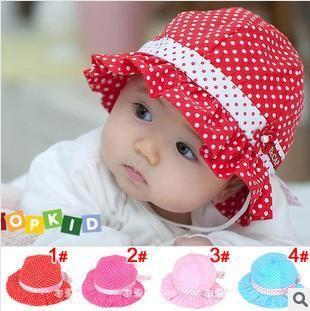 2019 Girls Dots Hats 2014 Summer Hat Sunhat Dots Polka Princess Hat Little  Girl Hat Accessories From Love fashionshop 464e11f85c6