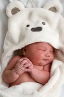 niños de dibujos animados durmiendo al por mayor-Venta al por mayor de lana de coral recién nacido niños bebé manta productos boygirl niño de dibujos animados oso saco de dormir otoño e invierno