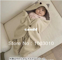 red quilts 2019 - New Cute Comfortable Children Baby sleeping bag infant blankets quilt toddler sleeping sack baby swaddling wrap Hat Beig