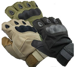Wholesale artificial fingers - free shipping Outdoor Sports Fingerless Military Tactical Airsoft Hunting Cycling Bike Gloves Half Finger Gloves 3 color