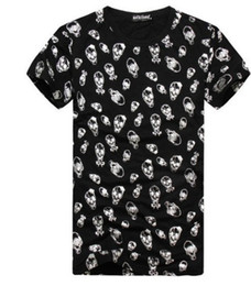 Wholesale East Knitting Fashion - EAST KNITTING K-20 Autumn summer clothes for Men 2017 new Tees Skull print t-shirts free shipping
