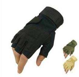 $enCountryForm.capitalKeyWord NZ - Shanghai Story Men's Army Gloves Man Half Finger Tactical Gloves Military Quick Dry Anti-Slippery Leather Combat Gloves Khaki