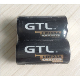 Wholesale New Pool - Free UPS Brand New GTL CR123A LR123A charge pool 16340 3v lithium battery 1200mah lithium Rechargeable Battery