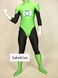 Wholesale Green Lantern Zentai - Lycra man Green Lantern First Fligh zentai catsuit costume green2014