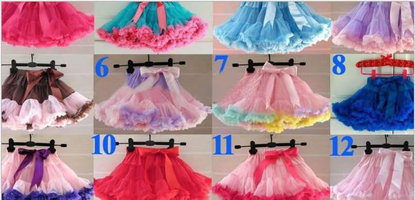 In Stock Baby Skirt Girl TuTu Dress Gauze Layer Ball Gown Babies Tutu Skirt Princess Chiffon Fluffy Pettiskirts Children Dance Skirts