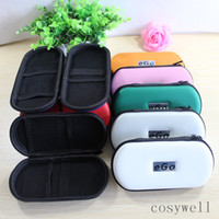 Wholesale Ego W Bag - Colorful Ego case ego leather zipper bag ego cover for ego-t ego-w ego-F electronic cigarette carry bag L M S size ego box