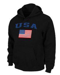 Wholesale Usa Olympics Hoodies - Team USA Hockey Winter Olympics KO Pullover Performance Hoodie Black Hockey Jackets Brand Mens Sports Fleece Cheap Players Jackets